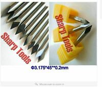 Carbide PCB board 0.1mm 90 Degree Engraving Bits CNC Router Tool 10pcs ☆
