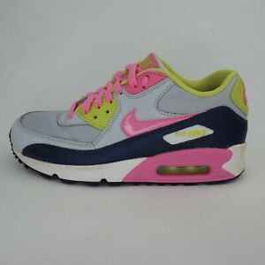 Womens Girls NIKE AIR MAX GS 90 Casual Multicolour Lace Up Trainers Size UK 5.5