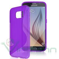 Custodia WAVE VIOLA per Samsung Galaxy S6 G920F case flessibile termoplastica