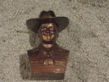 "Hopalong Cassidy  4"" Copper Colored Plastic Bank"