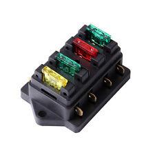 12V/24V Fuse Holder Box Block 4 Way Vehice Car Circuit Automotive w/ 4 Blade