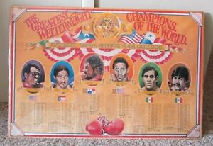 VINTAGE BOXING POSTER THE GREATEST WELTERWEIGHTS SHRINK WRAPPED VERY RARE