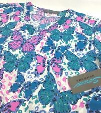 Serene Uniforms Women's Butterfly Scrub Top NEW Polyester Size: Small