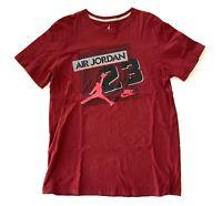 Nike Jumpman Air Jordan Graphic Short Sleeve T Shirt Red Maroon Mens Size XL