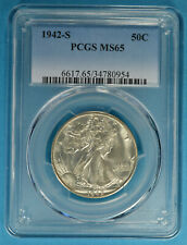 1942-S Walking Liberty Half Dollar PCGS MS65- Exceptional White Gem