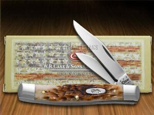 Case xx Texas Jack Knife Jigged Amber Bone Handle CV Steel Pocket Knives 00077