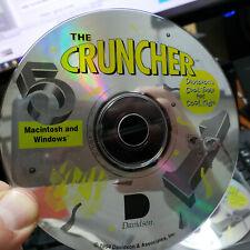 The Cruncher 5 Windows Macintosh  1994 Davidson CD-ROM  SUPER RARE disc only
