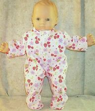 """Doll Clothes Baby Made 2 Fit American Girl 15"""" inch Bitty Pajamas Strawberries"""