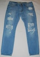 Machine Pour Neuf Mode Heavily Distressed Ripped Skinny Women's Jeans Size 31