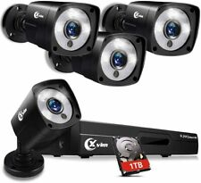 Xvim 1080P Hdmi Dvr Outdoor Color Night Vision Cctv Security Camera System 1Tb
