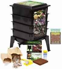 Worm Factory 360 Farm Compost / Vermicompost Bin Kit + BONUS Infographic Magnet