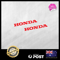 2x HONDA SMALL STICKER DECAL MOTOCROSS MOTOR CYCLE  110x13mm