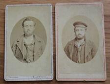 2 alte Potrait Fotos Marinesoldat / Mützenband KAISERLICHE MARINE um 1880 / 1890