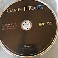 Game of Thrones Season 2 disc 5 Replacement Disc DVD ONLY