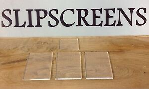 ACRYLIC STAMPING BLOCKS PACK OF 4 *NEW* MADE IN THE UK