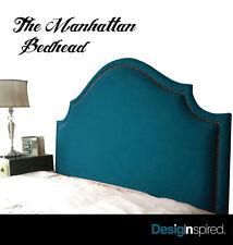MANHATTAN Bedhead for Queen Ensemble - PEACOCK