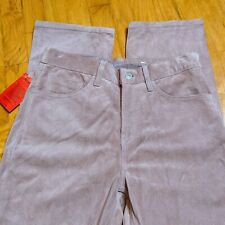 NWT Vtg 1999 Levis Red Tab Womens 8 Pink Suede Leather Moto Hippie Boho Pants