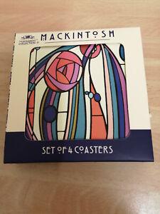SET OF 4 SCOTTISH MACKINTOSH COASTERS
