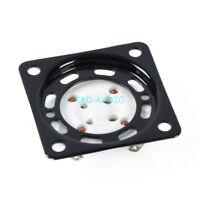 4pcs 4pin  Tube Socket Shock Proof Plate Black U4A U5A U6A Tube Base mounting