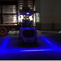2PCS 30W Blue Line LED Forklift Truck Warning Lamp Safety Working Light 10-80V