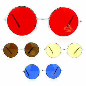 SA106 Dope Color Groovy Hippie Wire Rim Round Circle Lens Sunglasses