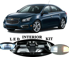 LED Package - Interior + License Plate + Vanity for Chevrolet Cruze (11 pieces)