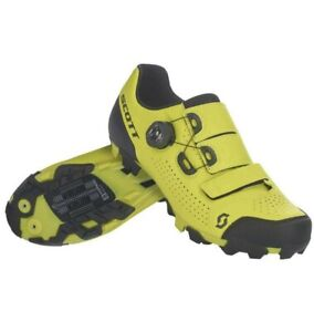 Scott MTB Team Boa Mountain Bike Shoes Yellow Men's Size 8 US / 41 EU