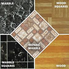 M2 Floor Tile Self Adhesive Vinyl Flooring Kitchen Bathroom Charcoal Stone Wood