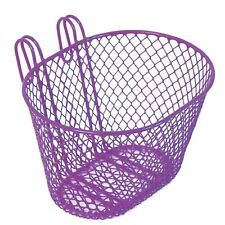 Wire Mesh Front Bike Carry Doll Storage Basket for Kids Bike LAVENDER