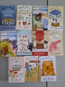 AGATHA RAISIN book bundle x11 M.C. BEATON books clue murder books MYSTERY