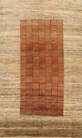 Contemporary Gabbeh Checked Oriental Area Rug Living Room Hand-knotted Wool 6x10