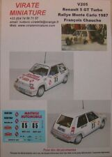 V205 RENAULT 5 GT TURBO RALLYE MONTE CARLO 1987 FRANCOIS CHAUCHE DECALS VIRATE