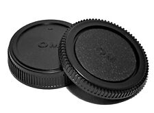 Olympus & Panasonic 4/3 E Mount Back Cap Rear Lens Cap Body Cap Set