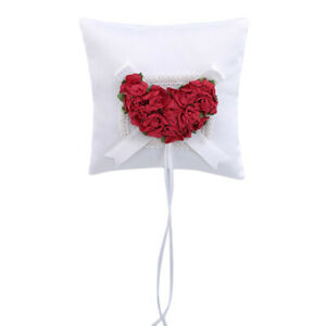 Ring Pillow Universal Flower Jewelry Case Wedding Decor Heart Party Supplies SH