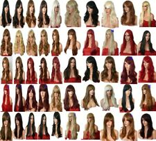 Black Brown Pale Blonde Red Long Curly Straight Wavy Women Fashion Wig