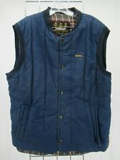 I8805 VTG Men's Barbour Snap-Front Plaid-Lined Waistcoat Vest Size M