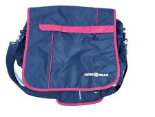 Swiss Gear Tote Shoulder Bag Laptop Bag Soft messenger bag. NWOT. Black with red