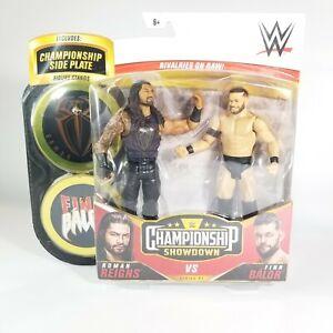 WWE ELITE CHAMPIONSHIP SHOWDOWN 2pk ROMAN RIEGNS & FINN BALOR W/ Side Plates