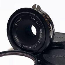 Nikon GN Auto Nikkor-C 45mm F2.8 Pre-Ai Prime Lens Pancake Excellent Japan F/S