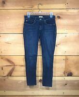 Eileen Fisher Skinny Jeans Womens Size 28 Stretch Organic Cotton Ankle Dark Wash