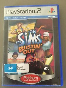 The Sims Bustin' Out  PS2 great condition with book