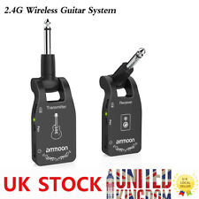 ammoon Wireless Guitar System 2.4g Rechargeable 6 Channels Audio Transmitter UK