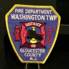 Washington Twp/District 10/Gloucester County N.J Fire Department Patch.