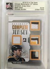 2012-13 ITG Ultimate /9 Adam Oates Complete Jersey Silver SP