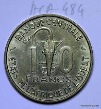 pièce de 10 francs 1966 etats de l'afrique de l'ouest aca484