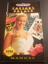 Caesars Palace Sega Genesis Instruction Manual ONLY Color