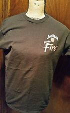 Used Jim Bean Kentucky Fire  Whiskey Black T Shirt Size Large 100% cotton