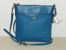 NWT COACH North South Swingpack Crossbody Embossed Textured Leather Denim