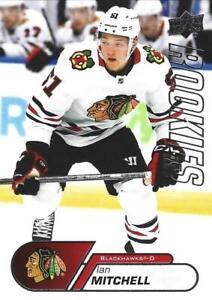 20-21 UD NHL Rookie Box Set Ian Mitchell Rookie Card #19 Chicago Blackhawks RC