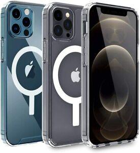 Coque Transparente Pour Phone 13/12 Pro Max Mini avec Cercle magnétique intégré